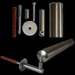 Befestigungsset für einen Stahlhandlauf (d 34 mm) an Mauerwerk