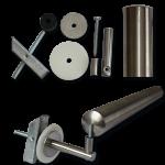 Befestigungsset für einen Stahlhandlauf (d 34 mm) an Trockenbauwand